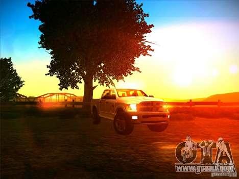Dodge Ram Heavy Duty 2500 for GTA San Andreas back view