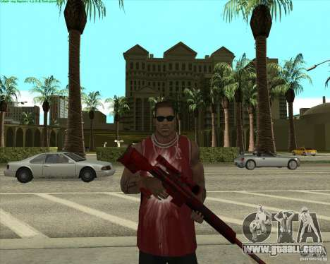 Blood Weapons Pack for GTA San Andreas third screenshot