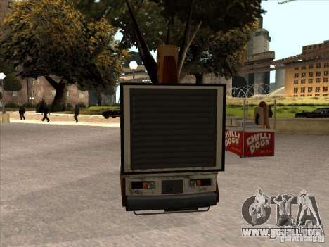 Sweeper Pizza Boy for GTA San Andreas left view
