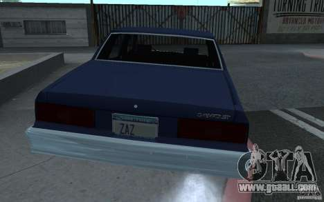 1983 Chevrolet Impala for GTA San Andreas left view