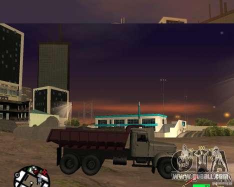 KrAZ-256 dump truck for GTA San Andreas left view