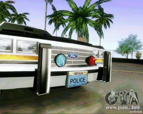 Ford Crown Victoria LTD 1991 LVMPD for GTA San Andreas back view