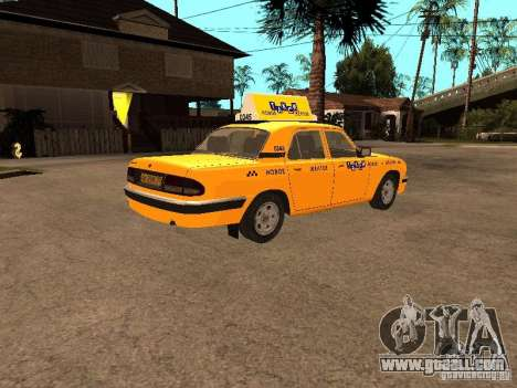 Gaz-31105 Volga Taxi for GTA San Andreas right view