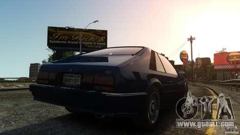Uranus Hatchback for GTA 4 back left view