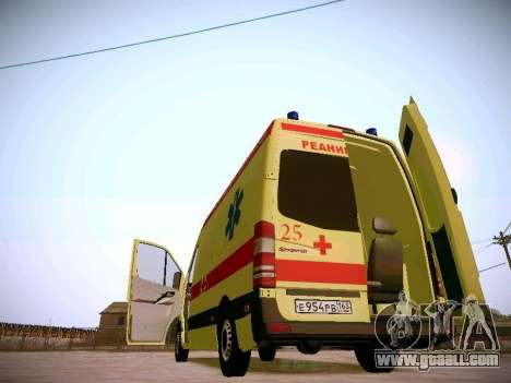 Mercedes Benz Sprinter Ambulance for GTA San Andreas upper view