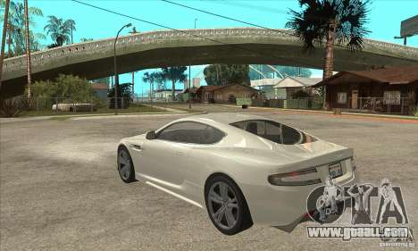 Aston Martin DBS for GTA San Andreas back left view
