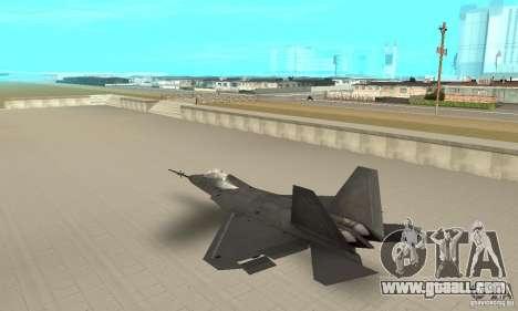 YF-22 Black for GTA San Andreas back left view