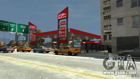 New gas station for GTA 4 third screenshot
