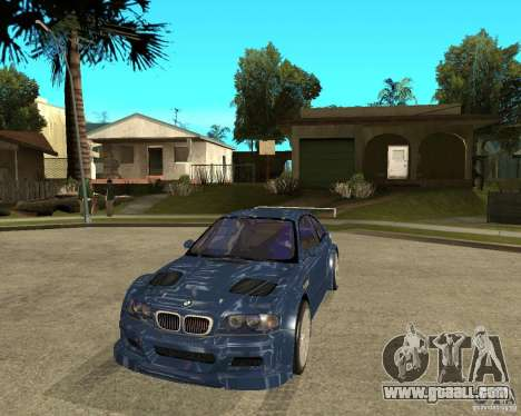 BMW M3 GTR from Need for Speed Most Wanted for GTA San Andreas back view