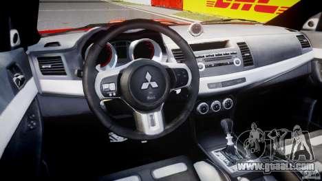 Mitsubishi Lancer Evo X 2011 for GTA 4 right view