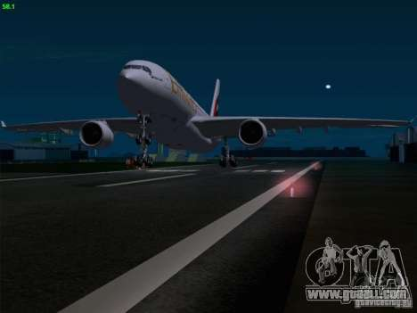Airbus A330-200 Emirates for GTA San Andreas interior