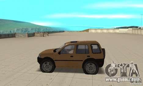 Land Rover Freelander KV6 for GTA San Andreas left view