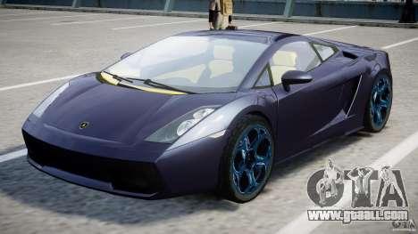 Lamborghini Gallardo Superleggera for GTA 4 upper view