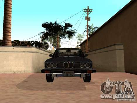 BMW 535is E28 for GTA San Andreas back left view