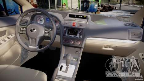 Subaru Impreza Sedan 2012 for GTA 4 upper view