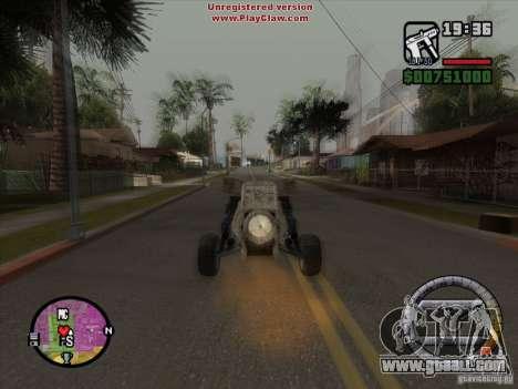 Turbo car v.2.0 for GTA San Andreas inner view