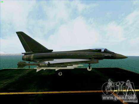 Eurofighter-2000 Typhoon for GTA San Andreas right view