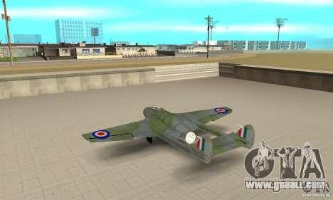 De-Havilland-Vampire ver 2.0 for GTA San Andreas back left view