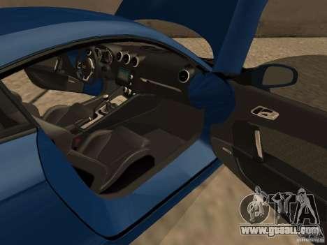 Audi TT RS for GTA San Andreas inner view
