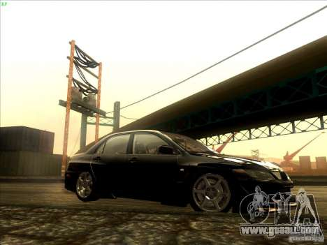 Mitsubishi Lancer Evolution VIII Full Tunable for GTA San Andreas inner view