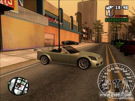 Cadillac XLR for GTA San Andreas inner view