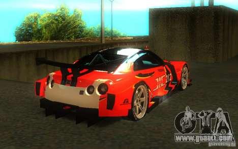 Nissan Skyline R35 GTR for GTA San Andreas engine