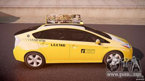 Toyota Prius LCC Taxi 2011 for GTA 4 upper view