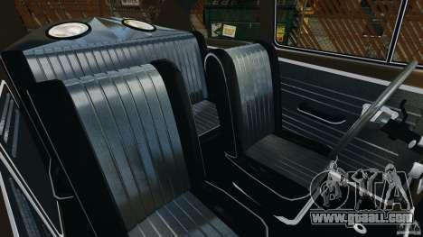 Volkswagen Fusca Gran Luxo v2.0 for GTA 4 inner view