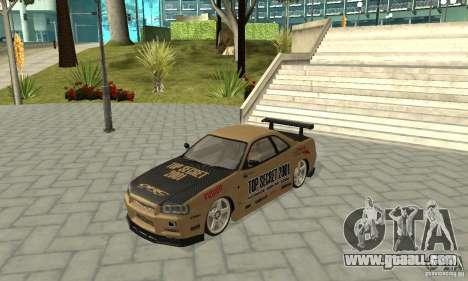 Nissan Skyline R-34 GTR for GTA San Andreas engine