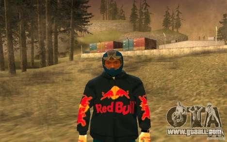 Red Bull Clothes v1.0 for GTA San Andreas fifth screenshot