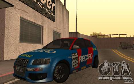 Audi S3 Tunable for GTA San Andreas