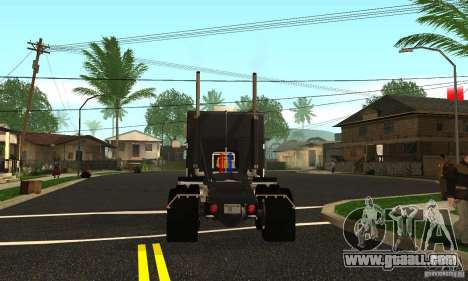 Peterbilt 362 Cabover for GTA San Andreas back left view