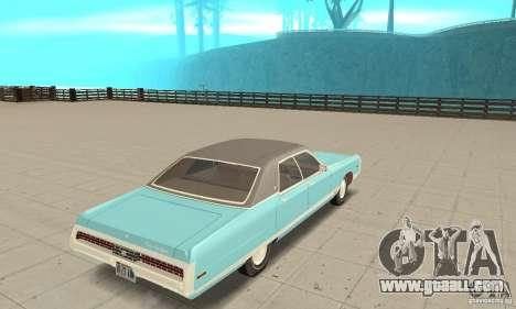Chrysler New Yorker 4 Door Hardtop 1971 for GTA San Andreas left view
