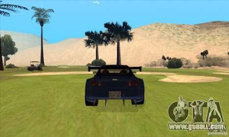 Nissan Skyline R34 GT-R LM for GTA San Andreas interior