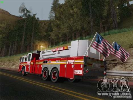 Seagrave Marauder. F.D.N.Y. Tower Ladder 186 for GTA San Andreas side view