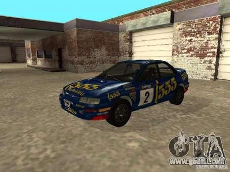 Subaru Impreza WRX STI 1995 for GTA San Andreas engine