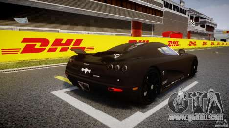 Koenigsegg CCXR Edition for GTA 4 side view