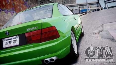 BMW 850i E31 1989-1994 for GTA 4 upper view
