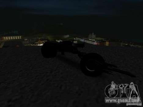 Batpod for GTA San Andreas back view