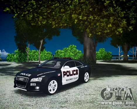 Audi S5 Police for GTA 4 right view