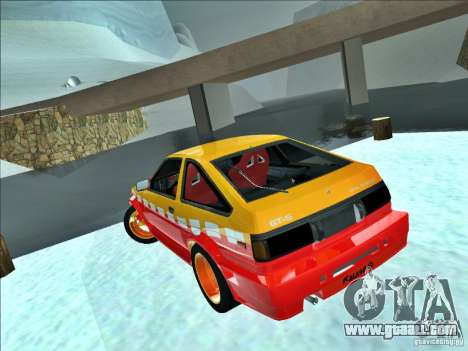 Toyota Trueno AE86 Calibri-Ace for GTA San Andreas back left view