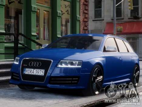 Audi RS6 Avant for GTA 4 right view