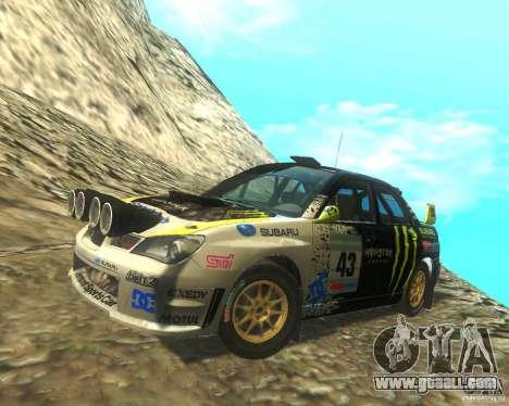 Subaru Impreza WRX STI DIRT 2 for GTA San Andreas interior
