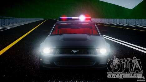 Ford Mustang V6 2010 Police v1.0 for GTA 4 interior