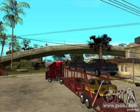 Semi-trailer Truck for GTA San Andreas inner view