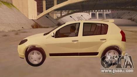 Renault Sandero for GTA San Andreas left view