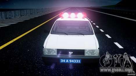 Tofas Sahin Turkish Police v1.0 for GTA 4 upper view