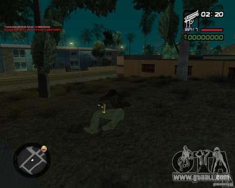 Desert Eagle GOLD for GTA San Andreas forth screenshot