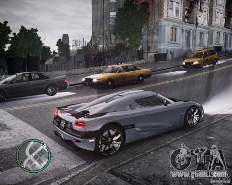 Koenigsegg Agera for GTA 4 inner view
