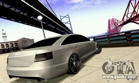 Audi A6 Blackstar for GTA San Andreas bottom view